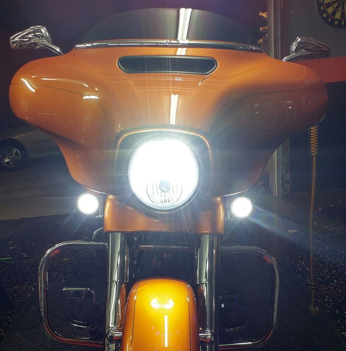 "1157 Bullet Style Amber Turn Signal Bulb White Running Light 2/"" Panel Compatible for Harley Davidson Softail Dyna Sportster Touring Amazicha LED Turn Signal Light"